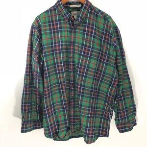 {L.L. Bean} Men's Plaid Button Down Size XXL